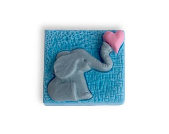 Decorative Loving Elephant Soap || Hand Sculpted Soap Design || Housewarming, Get Well Soon, Birthday, Holiday, or Just For Fun Gift