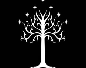 the lord of the rings TREE of GONDOR hooded sweatshirt hoodie