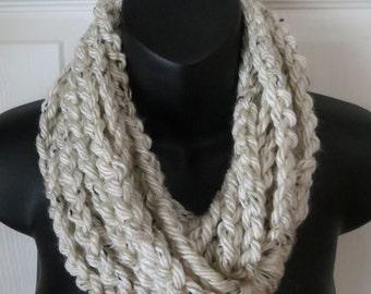 Aspen Tweed Infinity Scarf...Cowl...Neck Warmer...Accessory...Gift
