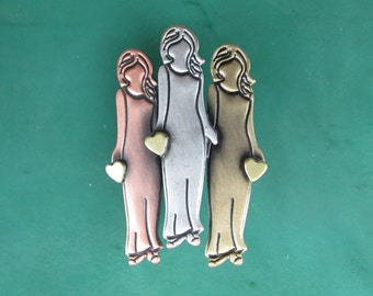 Sister Gift, Friends Gift, Best Friends Gift, Friendship Gift, BFF Gift Jewelry Brooch Pendant