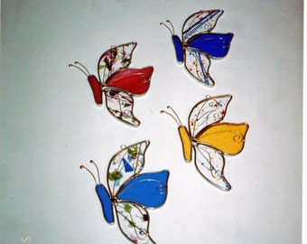 Butterfly Suncatcher - Stained Glass Butterfly - Stained Glass Butterflies - Stained Glass Suncatchers