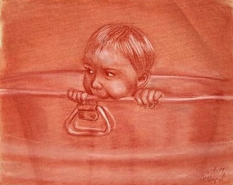 Bath Time - Limited Edition Signed and Numbered Print