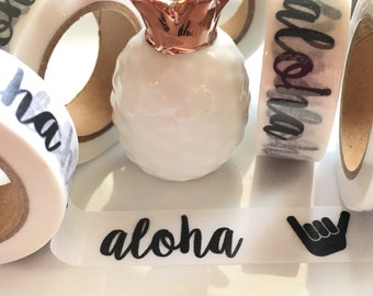 Exclusive**Aloha Washi Tape - BLACK