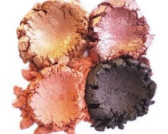 4pc AUTUMN Eyeshadow Set Mineral Makeup Natural makeup Vegan Mineral Eye Shadow
