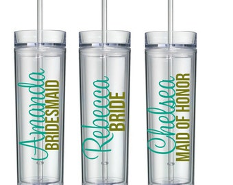 3 Personalized Tumbler, Bridesmaid Gift, Gift, Personalized Tumbler, Personalized Cup, personalized water bottle