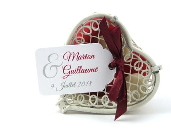 10 labels 2.4 x 4 cm, ampersand, romantic, customized for your wedding favors