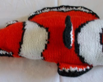 Clown fish blanket cushion