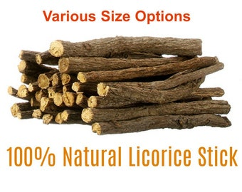 100 % Natural Organic Licorice Root Sticks