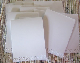 Blank Card Stock with Scallop Edge  pack of 12