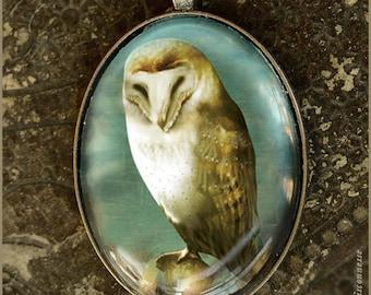 OWL woodland owl illustrated necklace  - illustrated jewelry