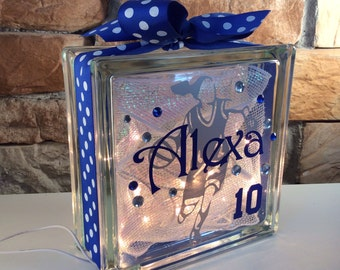 Basketball Girl Dribbling GemLight, Personalized, Gifts for Basketball, Home Decor