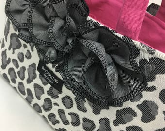 Leopard BAGOLITA Handbag with Pink Liner and Ruffles | NEW Birdie Size!