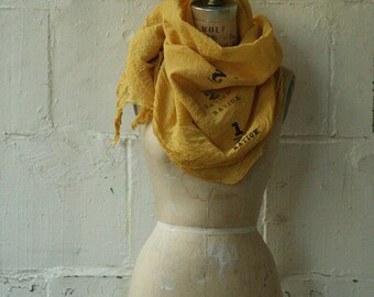 Yellow Scarf, Spring Accessories, Fashion edgy scarves, printed , gifts, Summer