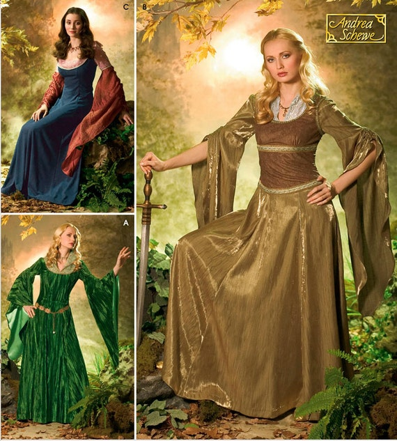 Medieval SCA Cosplay in the style of Lord of the Rings (like Arwen Eowyn Tauriel Elf) SEWING Pattern Simplicity 4940 Sizes 10-26 OOP! from ...  sc 1 st  Etsy Studio & Medieval SCA Cosplay in the style of Lord of the Rings (like Arwen ...