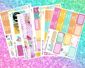 Cabo Weekly Sticker Kit / Fits Erin Condren Vertical Life Planner