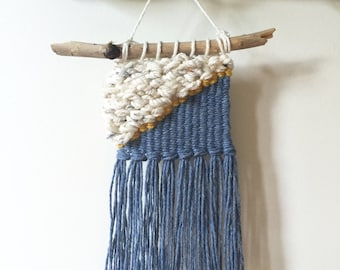 Mini Weave | Wall Hanging | woven textile, fiber art, simple weave, minimalist, nursery decor, Anthropologie inspired, JunahWoods