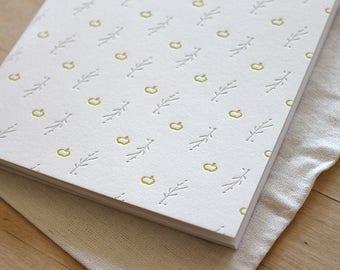 Letterpress Blank Journal - Apple Illustrations from Thoreau's Journal