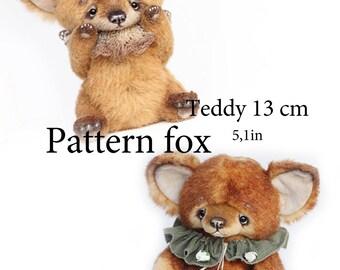 Pattern fox Teddy 13 cm