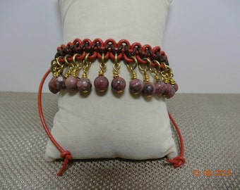 Square Knot Beaded Bracelet