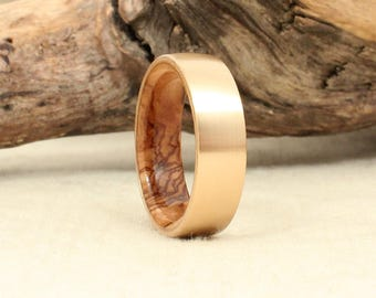 Wooden Ring - Gold and Bethlehem Olivewood