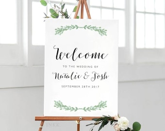 Printable Welcome Sign Poster - Wedding Welcome Sign PDF Download - Wedding Reception Sign Printable Wedding Signs - (Item code: P023)