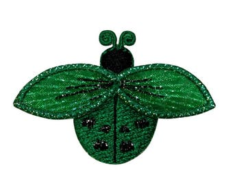 ID 1616A Ladybug Fly Patch Garden Beetle Insect Bug Embroidered Iron On Applique