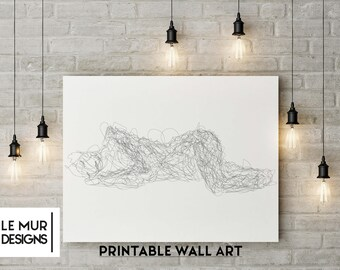 PRINTABLE art, Modern Minimalist print, Modern art, Minimalist Art, Brushstroke Art, Contemporary Art, Black & white art print, Abstract art