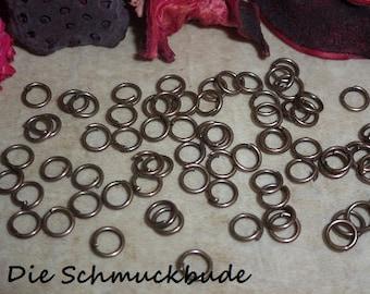 D-03346 - 100 Jumprings Copper nickel free 4mm