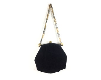 Flapper Bag, velvet purse, Flapper Purse, Black Purse, Gatsby, vintage Bags 1920s 1930s 20s 30s Morris Moskowitz Women Bags Purses Handbags