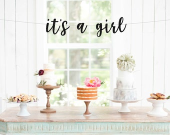 Its a girl banner baby shower decorations gender reveal party banner baby girl shower ideas its a girl sign baby shower banner