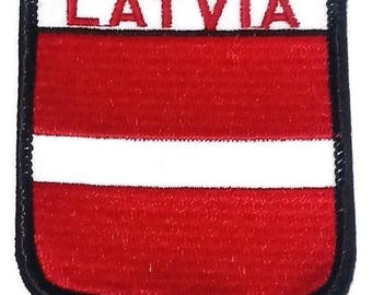 Latvia Embroidered Patch