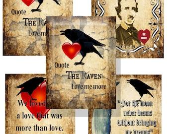 Printable Valentines Card Edgar Allen Poe Gothic