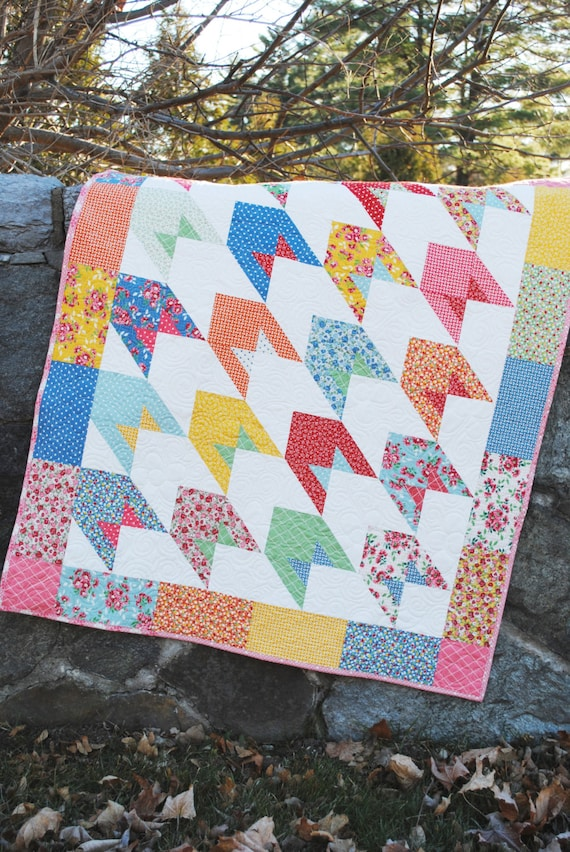 Baby Lap Or Twin Quilt Pattern Layer Cake And Fat Quarter