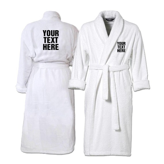 Personalised Embroidered Bathrobes Deluxe Dressing Gowns for