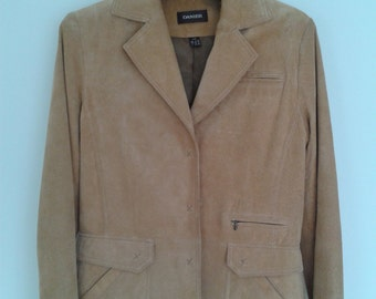 Tan Suede Blazer Jacket