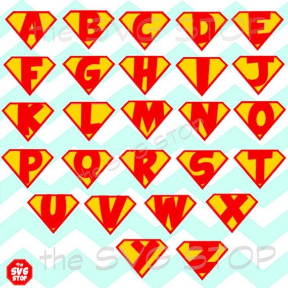 Superhero alphabet font 26 letters and frames SVG and studio