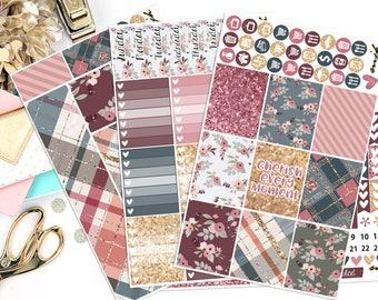 Cherish Sticker Kit | Fits Erin Condren - Vertical | Planner Stickers