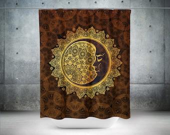 Bohemian Shower Curtain, Mandala Boho Shower Curtain Boho Decor, Gypsy Decor, Hyppie Shower Curtain, Shower Curtains, Bohemian Curtain