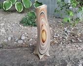 Curved Wood Grain Vase, 1...