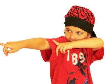 Jon's Children's Doo Rag - A Reversible Bandana, Cancer Hat, Chemo Headwear, Alopecia Scarf, Head Cover, Hair Loss, Cancer Gift