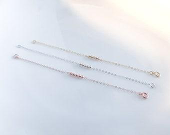 Rose gold Filled Beaded Bracelet, gold ball chain bracelet, delicate bracelet, satellite bracelet, Dainty Bracelet, bridesmaid bracelet