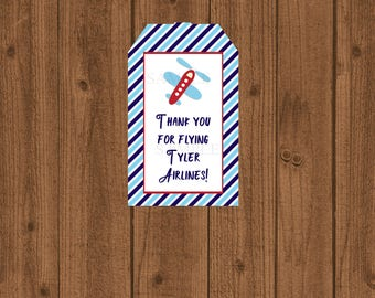 Airplane Birthday, Airplane Party, Airplane Baby, Airplane Shower, Tag, Airplane 1st, Favor Tag, Airplane Favor Tag, Printable, Personalized