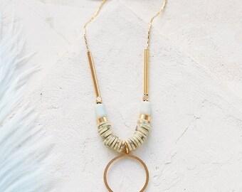 Michaella collier, collier Long ethnique, collier Long, sautoir Boho, collier, bijoux bohème de perles