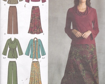 Simplicity 3568 Vintage Pattern Womens Top ,Skirt, and Pants and Shawl Size 10,12,14,16,18 UNCUT