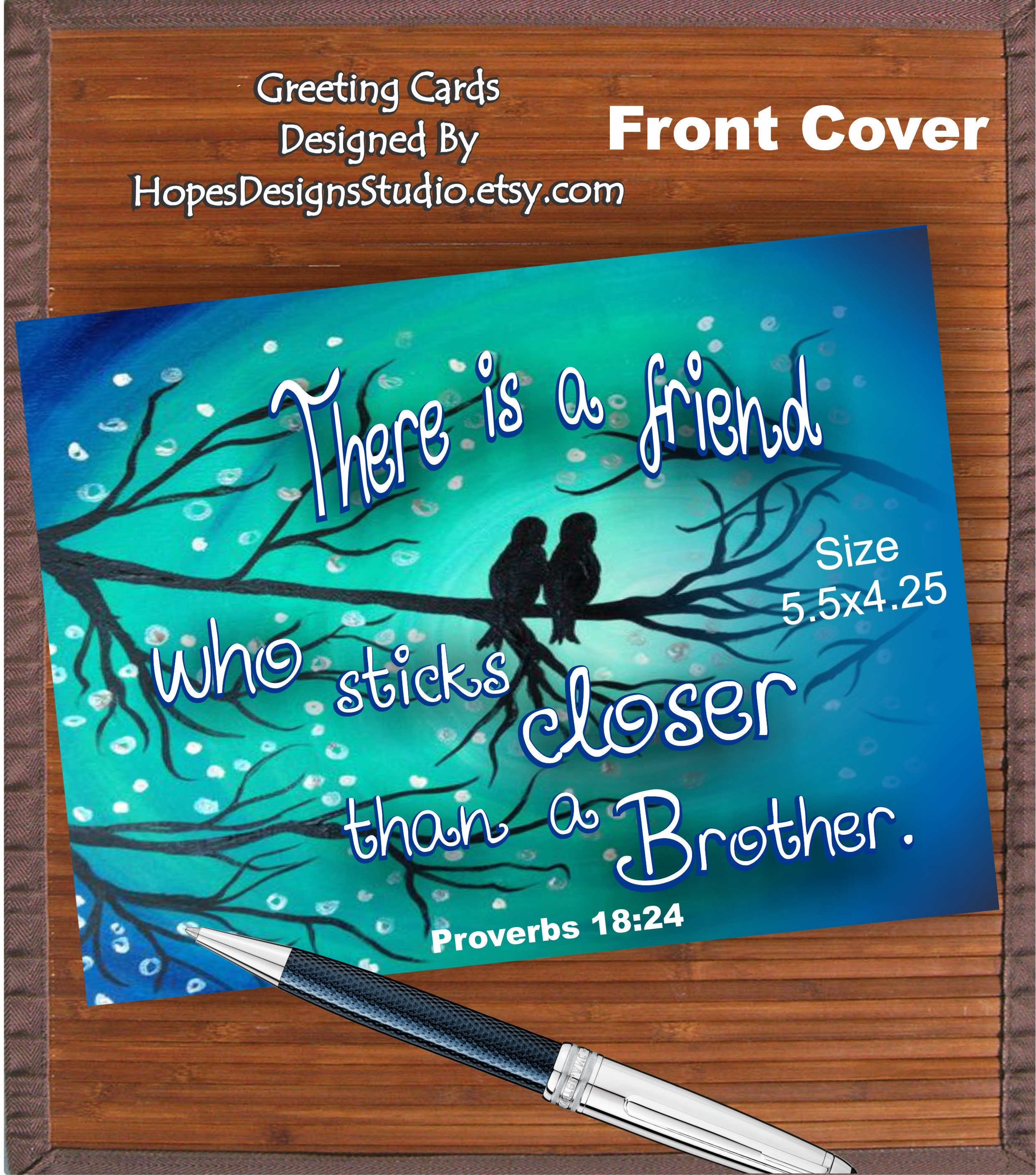 Jw Greeting Cardproverbs 1824 There Is A Friend Who Sticks