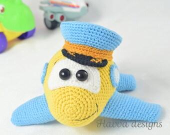 Crochet Pattern - Pilot Plane (Amigurumi Toy Pattern)
