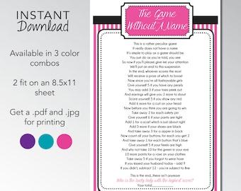Bridal Shower Spectacular Sweets Stripes 'Peculiar Poem' Instant Download Printable Game