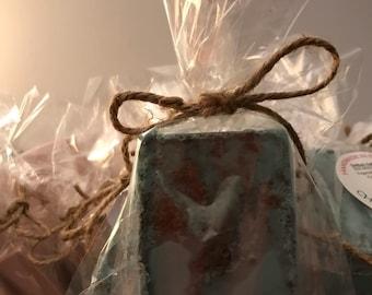 Mint chocolate handmade shea butter soap,