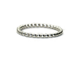 Sterling silver bubble ring, handmade dot stacking ring in your custom size