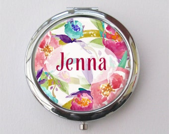 Bridesmaid Compact, Personalized Compact Mirror, Purse Mirror